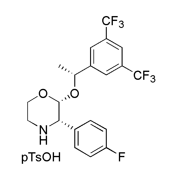 (2R,3S)-2-[(1R)-1-[3,5-Bis(trifluoromethyl)phenyl]ethoxy]-3-(4-fluorophenyl) morpholine 4-methylbenzenesulfonate