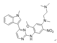 N-(2-dimethylamino-ethyl)-2-methoxy-n-methyl-n-[4-(1-methyl-1h-indol-3-yl)-pyrimidin-2-yl]-5-nitro-benzene-1,4-diamine